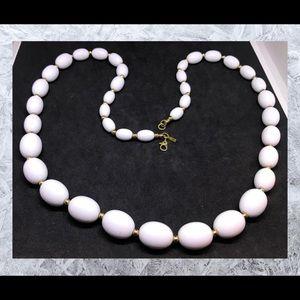 "Vintage Monet Graduated Beaded 27"" long necklace"